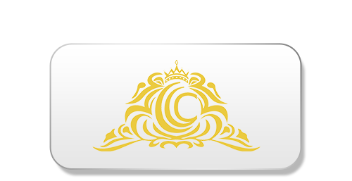 Logo designed in golden color, three c's defining the Chennai Convention Centre, enclosed within the other, and a crown over it depicting the best venue for occasions.